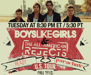 Boys Like Girls Chat Live From Backstage! Let's try this again tonight!  http://stickam.com/blgaar! If you missed it, the LIVE recording can be viewed here - http://www.stickam.com/viewMedia.do?mId=193726372