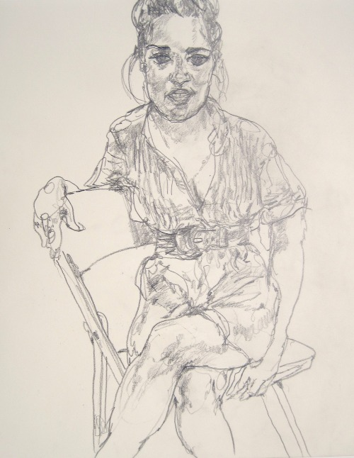 mountvision:  Prerna drawn at a cafe at the Metropolitan Museum of Art. by Gregory Muenzen