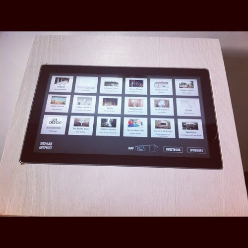 Amazing informational touchscreens in the space.  (Taken with Instagram at SiTE:LAB @ 54 Jefferson | Artprize)