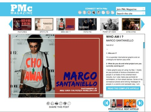 SUPERSTAR MARCO SANTANIELLO KEEP ROCKIN ALL OVER :)!! FEATURE ON PATRICK MC MULLAN MAG.COM !! http://pmc-mag.com/2012/10/marco-santaniello/