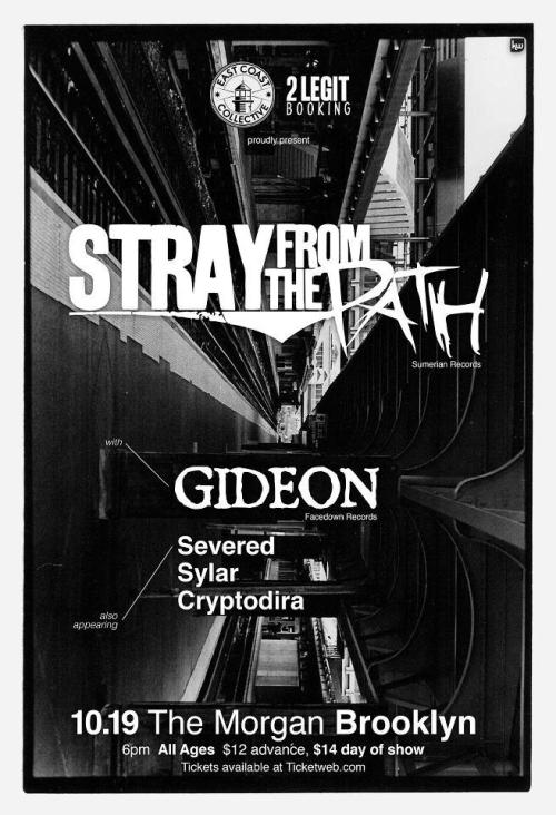 We're playing a show with Stray From The Path on October 19th. It's at The Morgan in Brooklyn, NY. Please reblog! Doors: 6:00 PM - We're on first, get there early! Event Page: https://www.facebook.com/events/435090159865879/ Cryptodira: http://www.facebook.com/cryptodira