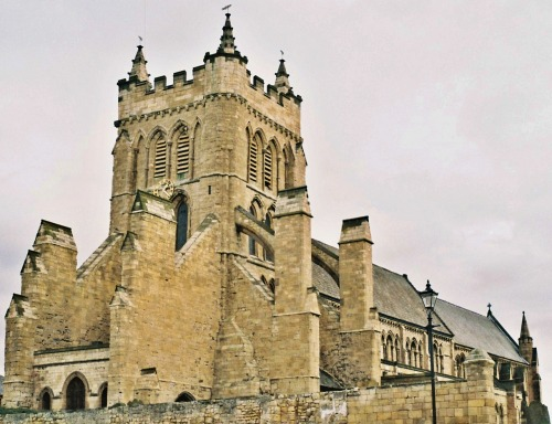 Saint Hilda's Church, Hartlepool. Taken with a 1962 Pax M4 rangefinder camera, using Fujicolor C200.