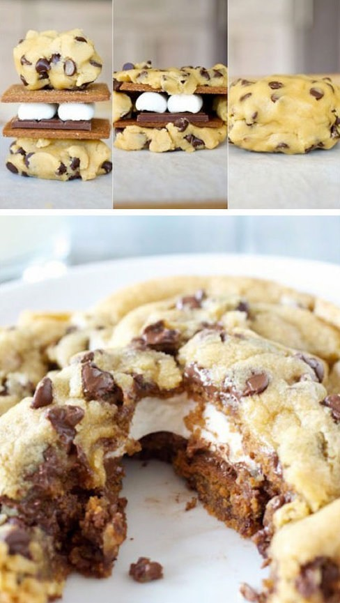 Chocolate Chip S'mores Cookies from nedhardy