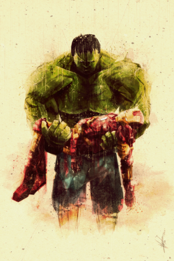 Hulk and Iron Man (via Time Lapse / Avengers Fan Art on the Behance Network)