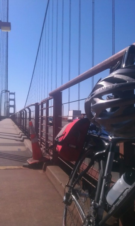 Biking across the Golden Gate Bridge.  Check.