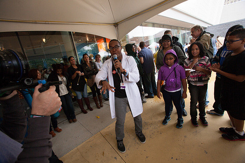 Mike Wilson's Nano Rap at the NYSCI Village, World Maker Faire 2012.