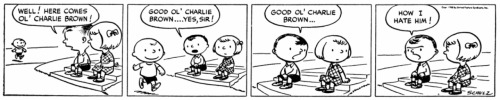 It's Your 62nd Birthday, Charlie Brown It's been 62 years since Charlie Brown first stumbled into our hearts and morning paper. The first Peanutscomic, shown above, appeared in nine newspapers on Oct. 2, 1950. By the time the comic ended in 2000, creator Charles Schulz had published 17,897 strips — which continue in reruns to this day.