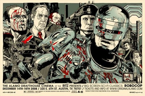 madcopy:  Robocop (1987). Poster illustration by Tyler Stout.