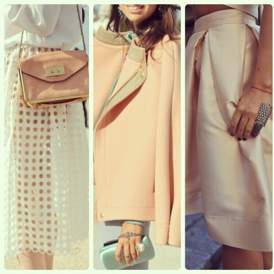 Perfectly coordinated pastels are so elegant.