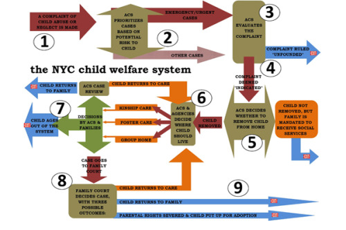 Another great graphic, found on City Limits, on how NYC child abuse reports are routed and handled.  I'm not finding a slide on what happens when a case worker can't locate Jacket the child…