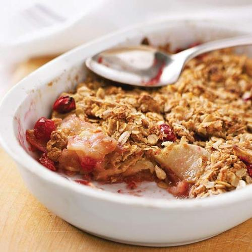 Apple Cranberry Crisp: Pair it with vanilla ice cream for a delicious dessert.