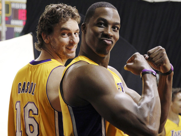 Pau Gasol has no idea how Dwight grows those odd lumps in his arms. Oh, by the way, it's happening… @Suga_Shane
