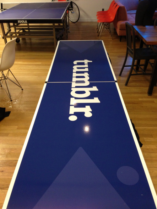 Yes that is a Tumblr beer pong table