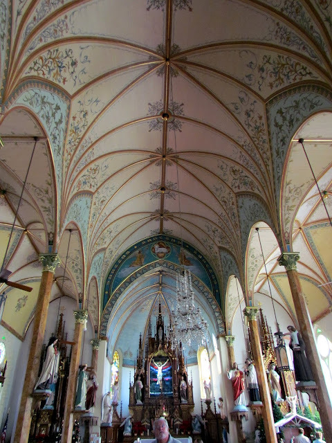 Amazing ceiling in St. Mary's located in High Hill, Texas.