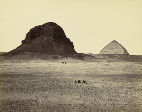 Francis Frith (English, 1822 – 1898) The Pyramids of Dahshoor, from the East 1857