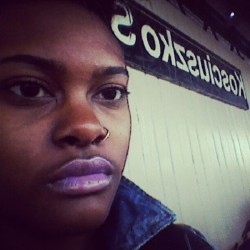 Waiting on the train. #selfportrait #nyc #subway #jtrain (Taken with Instagram)