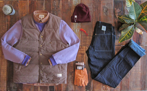 shirt: Norse Projects crew neck sweatshirt: YMC vest: Lifetime Collective beanie: Norse Projects keychain: Stussy Deluxe gloves: Norse Projects denim: Tender