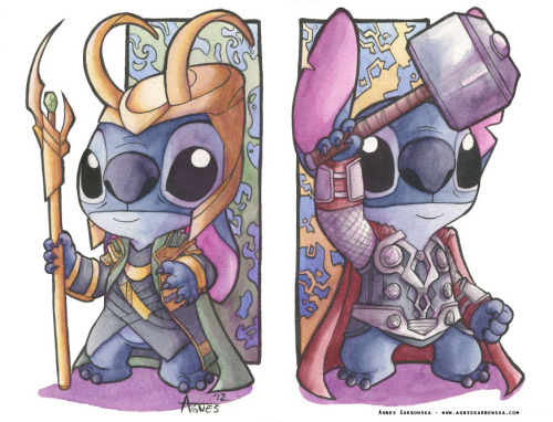 Thor Stitch and Loki Stitch all finished in full colour! These pieces are calmed for, but if you are at NYCC you can get them as mini prints. So make sure to come on by. I can be found at G9. Enjoy! My New York Comic Con Info My Book Info!