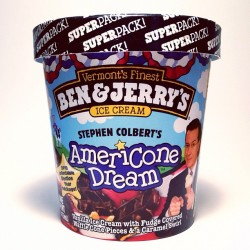 Just in time for election season, we present the AmeriCone Dream SUPER PACk! This patriotic pint will only be available for a limited time! (Taken with Instagram)