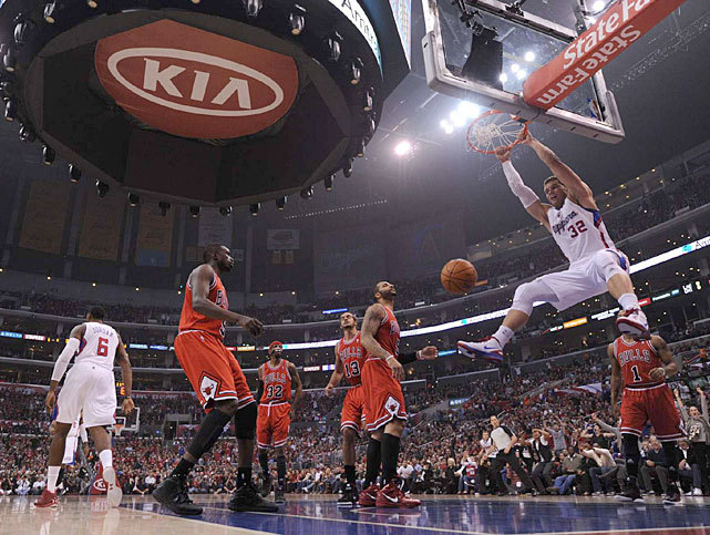 Blake Griffin flushes down a dunk during a Dec. 2011 game between the Clippers and Bulls. Can the Clippers build on last year's success and overtake the Lakers and Thunder in the Western Division? (John W. McDonough/SI) GALLERY: Blake Griffin - Dunk Machine