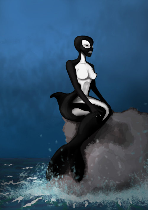 Out of the darkened waves by ~weeredfrog —-x—- More: | Mermaids | Random |