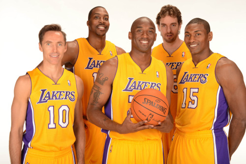foreverla:  The starting 5 for the 2012-2013 Los Angeles Lakers