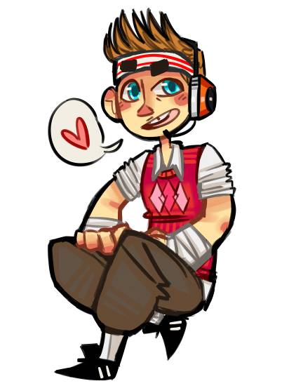 sassy2spooky:  i'm still trying to figure out how to draw scout  Cute!