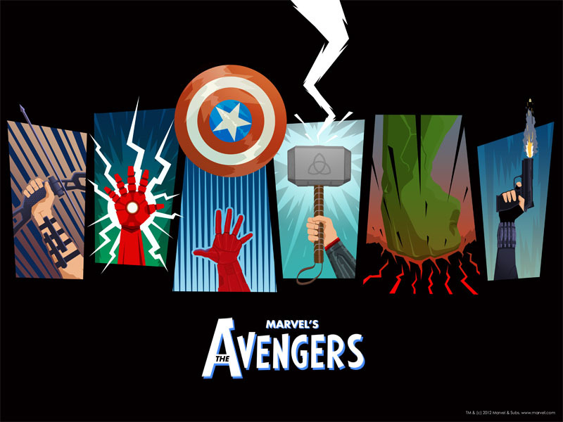 This is a poster for The Avengers available to buy along with the DVD. This one is by Matthew Ferguson.