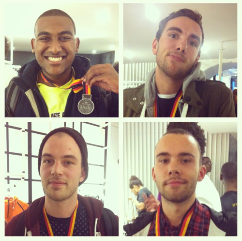 #RDCY @rundemcrew OG Youngers bringing home Berlin mara medals. @mrfatchance / @earthboundmike / @atticusharris / @jamnson  26.2 miles ran. 4 medals won. Hefty hangovers suffered.  Nice one. Super proud.