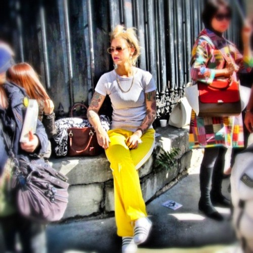 street style #paris (Taken with Instagram)