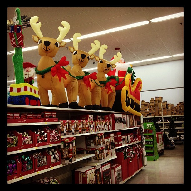 New definition of obscene: Christmas decorations in stores on October 2nd. (Taken with Instagram)