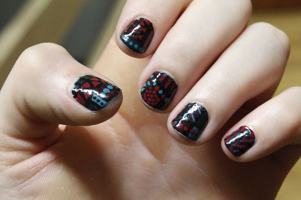 tribal nail design cute tribal nail design cute tribal