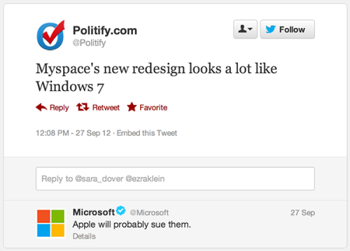 fuckyeahdementia:  [via]  On Apple Love this Microsoft humour.