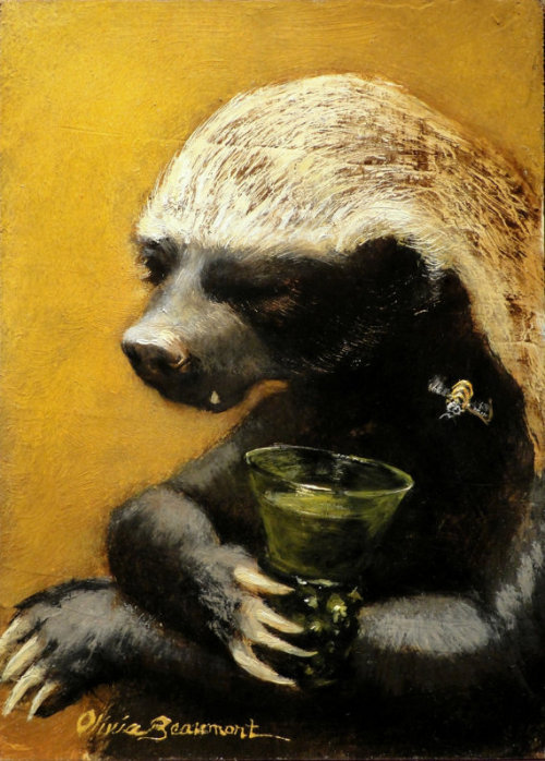 (via Honey Badger Art Half a Flagon Canvas Print 5x7 by BeaumontStudio)