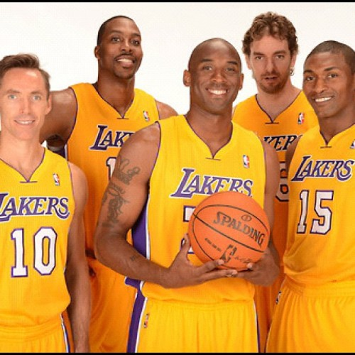 ain't nobody fresher than my  mf #clique clique clique clique clique @lakers #lakers  🏆 (Taken with Instagram)