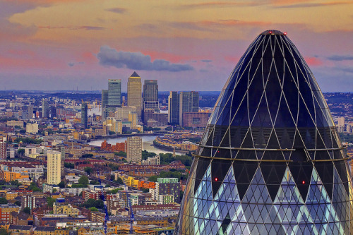 travelingcolors:  London from Canary Wharf | England (by AndreaPucci)