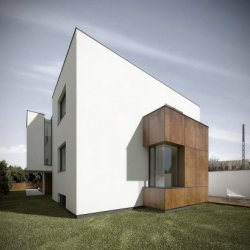 House Extension by KILKORO architekci in Poznań, Poland. Elegant details and thought-through contrasts characterize this family house in Poland. Its modest appearance keeps the building simple, human-scale, yet special in the neighborhood.