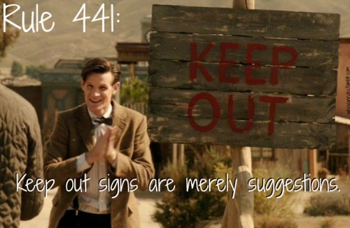Rule 441: Keep out signs are merely suggestions. (Image still from A Town Called Mercy by Jenna)