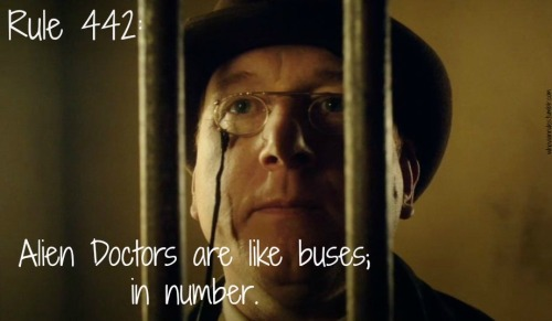 Rule 442: Alien Doctors are like buses; in number. (Image still from A Town Called Mercy by Jenna)