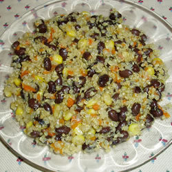 Quinoa and Black Beans http://allrecipes.com/Recipe/Quinoa-and-Black-Beans/