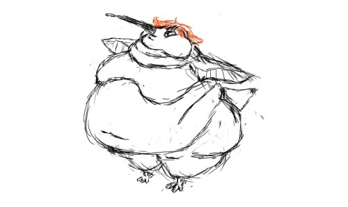 She's a fat humming bird, all arguments are invalid.  She's going to be a new reoccurring character, I think her name shall be Daffodil.