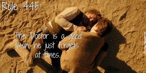 Rule 445: The Doctor is a good man, he just forgets at times. (Image still by Jenna from A Town Called Mercy)