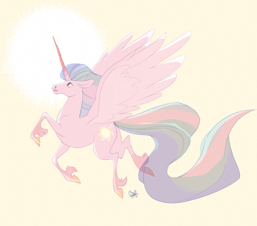 I was watching The Last Unicorn, and I was drawing, and then this.