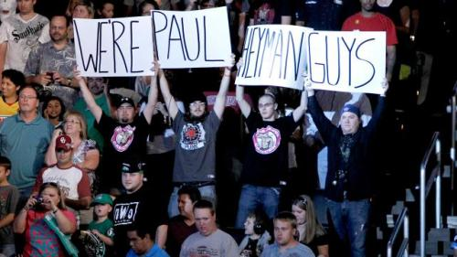 I think the guy on the end actually IS Heyman :P
