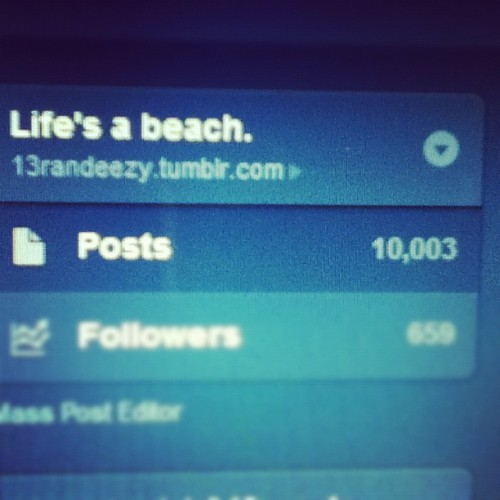 Finally reached my 10,000 posts 👍 #tumblr #follow #me #yay #finally #followme  (Taken with Instagram)
