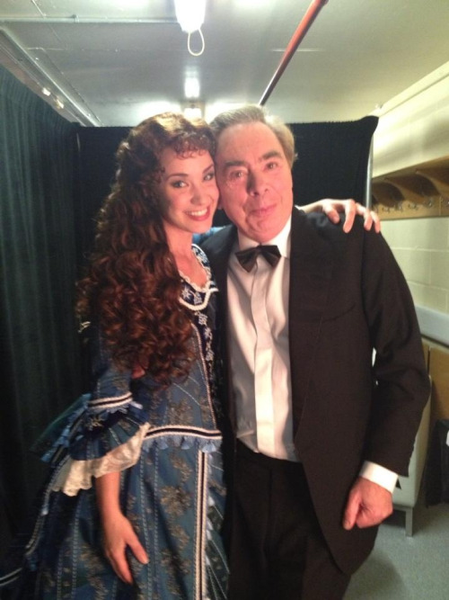 hpphans:  littlelottie:  phantomofthe-opera:  Sierra Boggess and Andrew Lloyd Webber backstage at the Classic Brits 2012  That wig!  I love their friendship Sierra is just perf