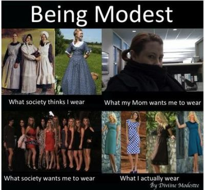 Being Modest (I'm not sure if it's appropriate or not though…)