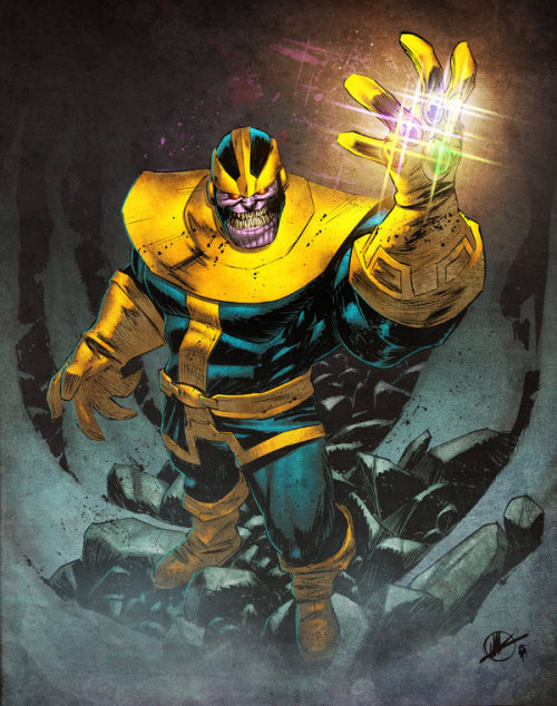 latanieredecyberwolf:  Thanos by Simon Gough (Spidermanfan2099)