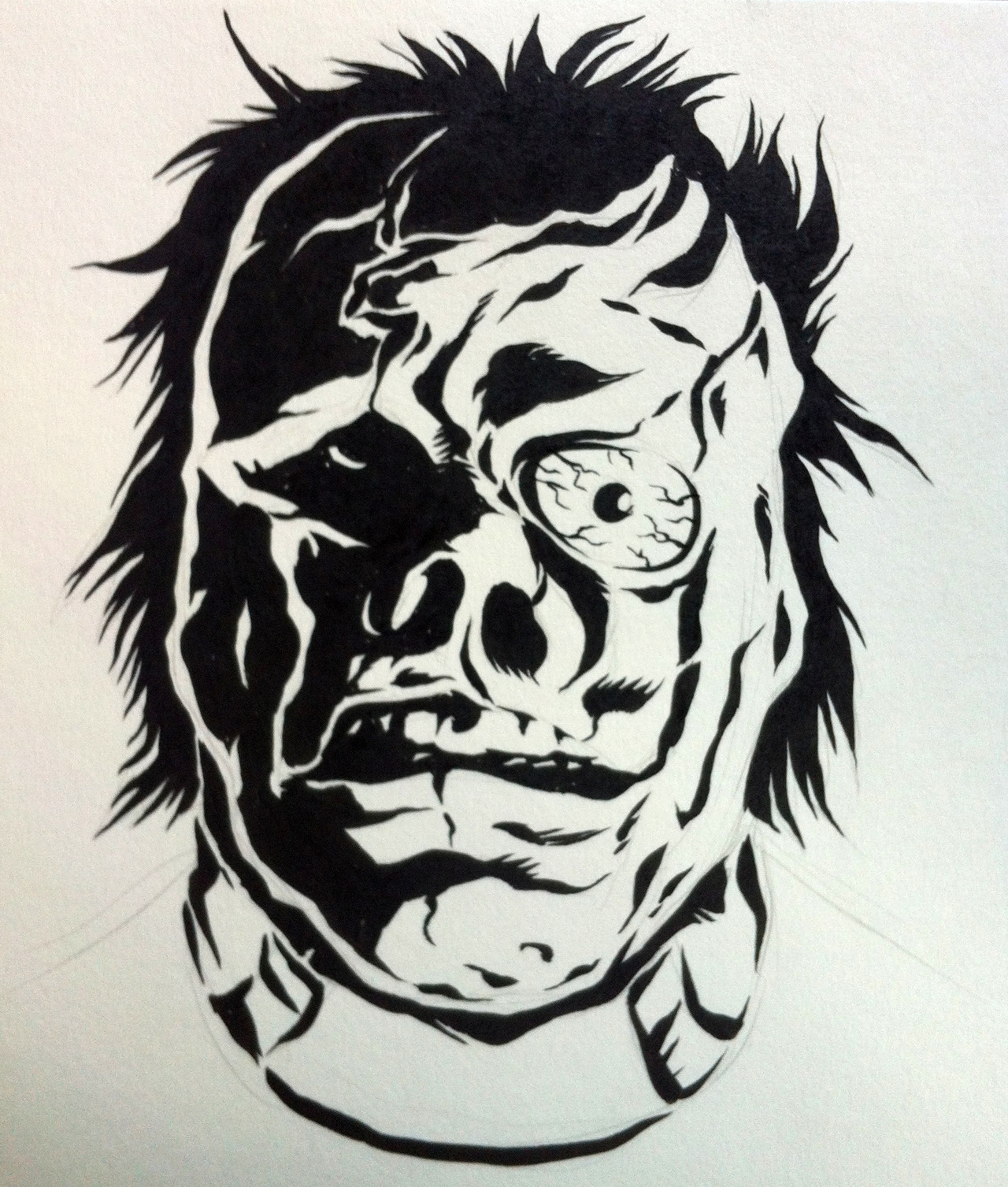 Warmup sketch: I WAS A TEENAGE FRANKENSTEIN