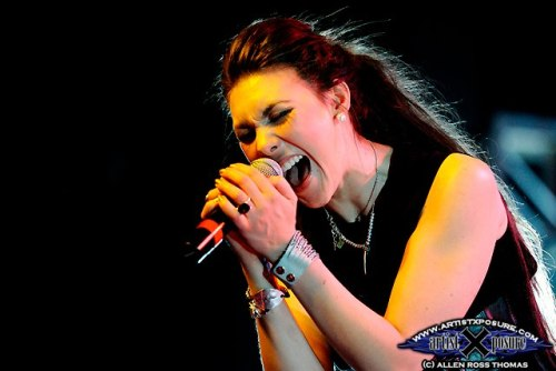 Elize Ryd of Amaranthe during their USA debut at ProgPower USA XIII in Atlanta Sept. 14, 2012Photo by Allen Ross Thomas of artistxposure
